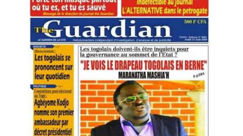 Togo: le journal «The Guardian» suspendu pour quatre mois