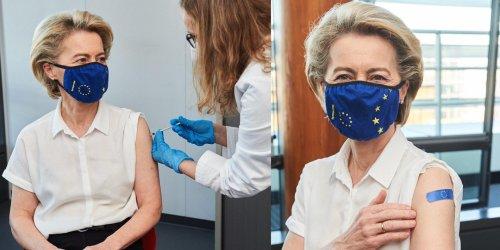 Șefa Comisiei Europene s-a vaccinat anti-COVID