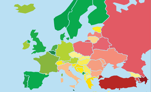 România pe locul 38 din 49 la respectarea drepturilor LGBTI (raport ILGA-Europe)