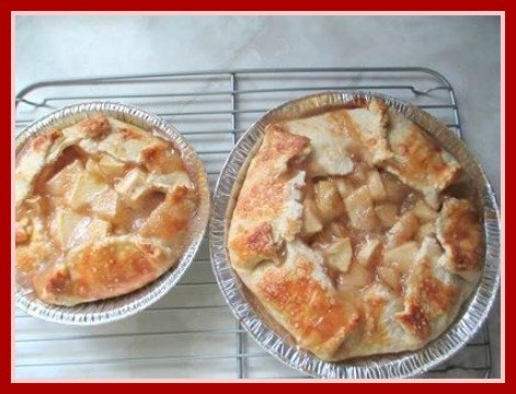 Rhubarb Apple Galette Recipe - How to Make an Open Face Rhubarb Apple Pie