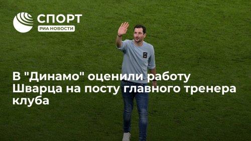 "В ""Динамо"" оценили работу Шварца на посту главного тренера клуба"