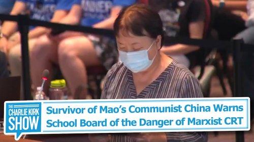 Survivor of Mao's Communist China Warns School Board of the Danger of Marxist CRT