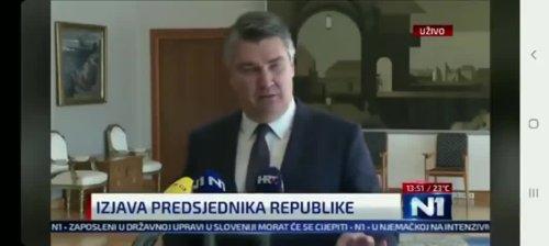 "President Of Croatia Says ""No More V@ccinations"""