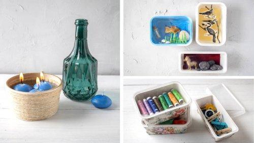 Basteln mit Schachteln: Durch Upcycling alten Verpackungen ein zweites Leben schenken