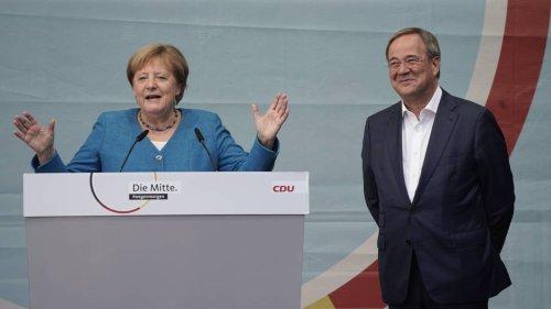 Merkel: Laschet kann Brücken bauen und Menschen mitnehmen