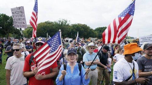 Vor US-Kapitol: Einige Hundert Trump-Anhänger demonstrieren in Washington