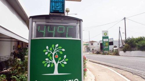 Bis zu 45 Grad: Auf Griechenland rollt eine rekordverdächtige Hitzewelle zu