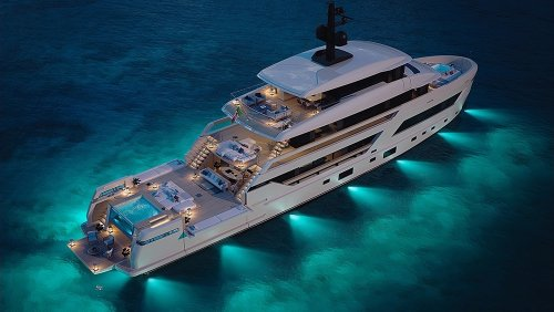 This New 144-Foot Superyacht Has An Interior Made Almost Entirely of Glass