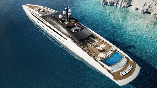 This 443-Foot Gigayacht Concept Has An Owner's Suite With Its Own Indoor-Outdoor Pool