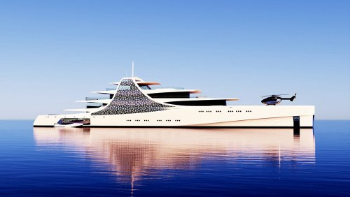 This Hybrid Superyacht Concept Sports A 'Crystalline Lattice'