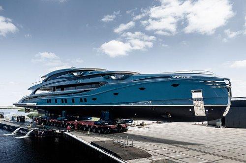 Royal Huisman's New Superyacht 'Phi' Hits the Water