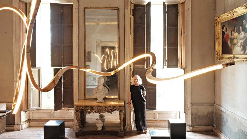 How Artist Niamh Barry Creates High-Concept LED Chandeliers From Bronze and Glass