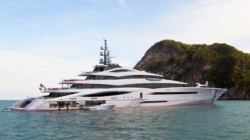 This Epic New 360-Foot Megayacht Has 4 Pools and a Beach Club With Waterfalls