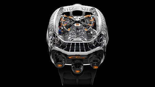 Jacob & Co.'s New $280,000 Bugatti Chiron Watch Looks Like It has a Supercar Engine Inside