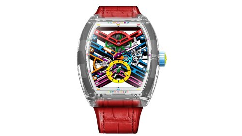 Franck Muller's New Vanguard Skeleton Is a Like Telling Time With a Rainbow
