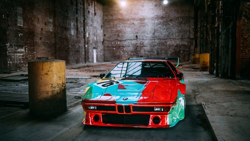 Andy Warhol Painted This BMW M1 for Le Mans 40 Years Ago. Now, It's Starring in a New Photoset