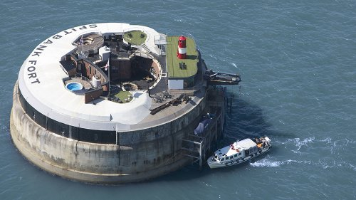 This Renovated Island Fortress Is Now a Lavish $5.2 Million Lair Worthy of a Bond Villain