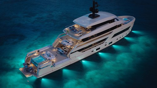 This Sleek New 144-Foot Superyacht Has an Interior Made Almost Entirely of Glass