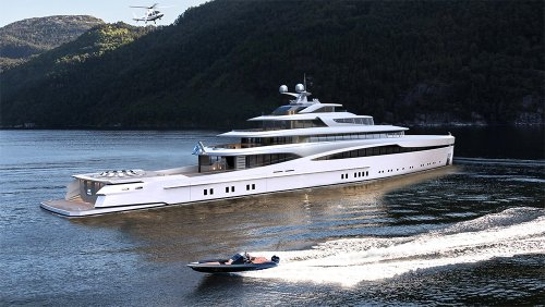 This Epic New 331-Foot Explorer Yacht Comes With 18 Vehicles to Let You Play on Land, Sea and Air