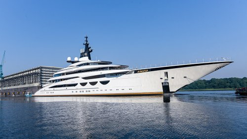 Watch: Lürssen's Epic New 377-Foot Superyacht 'Enzo' Hits the Water