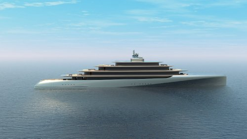 Boat of the Week: This 460-Foot Gigayacht Uses 'Organic Curves' and Muted Gray Colors to Blend Into the Water