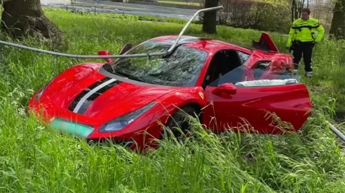 Watch: A Ferrari Driver Crashes a One-Day-Old 488 Pista While Trying to Show Off