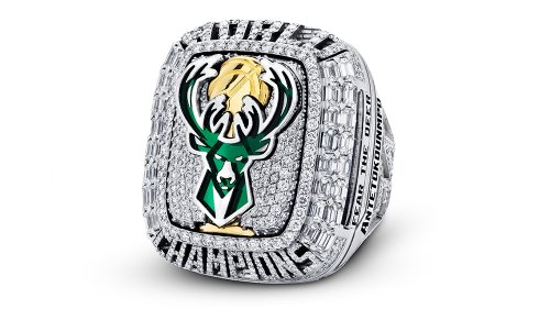 The Milwaukee Bucks' Diamond-Encrusted Championship Ring Has a QR Code That Plays Season Highlights