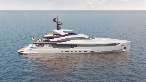 This New 160-Foot Superyacht Concept Is Like a Floating Sculpture on the Water