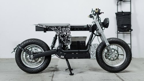 This Graffitied Custom Electric Bike Will Brings Some DBE (Dirt Bike Energy) to Your Daily Commute