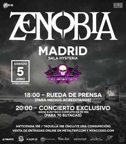 Zenobia en Madrid el 5 de junio