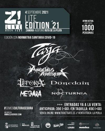 Cartel definitivo Z! Live Lite Edition 2021