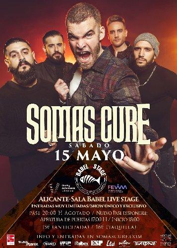 SOMAS CURE doble pase el próximo 15 de mayo