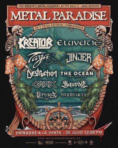 Festival METAL PARADISE Mini este mes de Agosto en Fuengirola