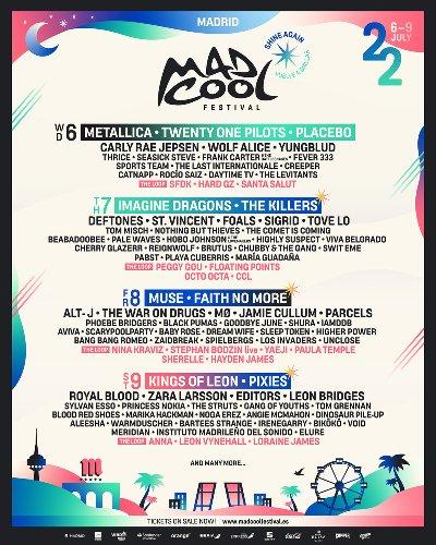 METALLICA y Muse en el Festival MAD COOL 2022