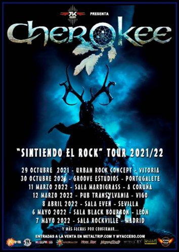 CHEROKEE anunica su nueva gira «Sintiendo El Rock»