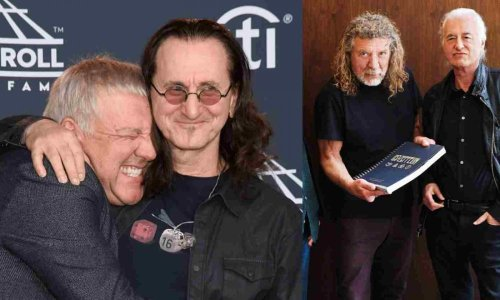 The funny story of when Geddy Lee and Alex Lifeson met Page and Plant