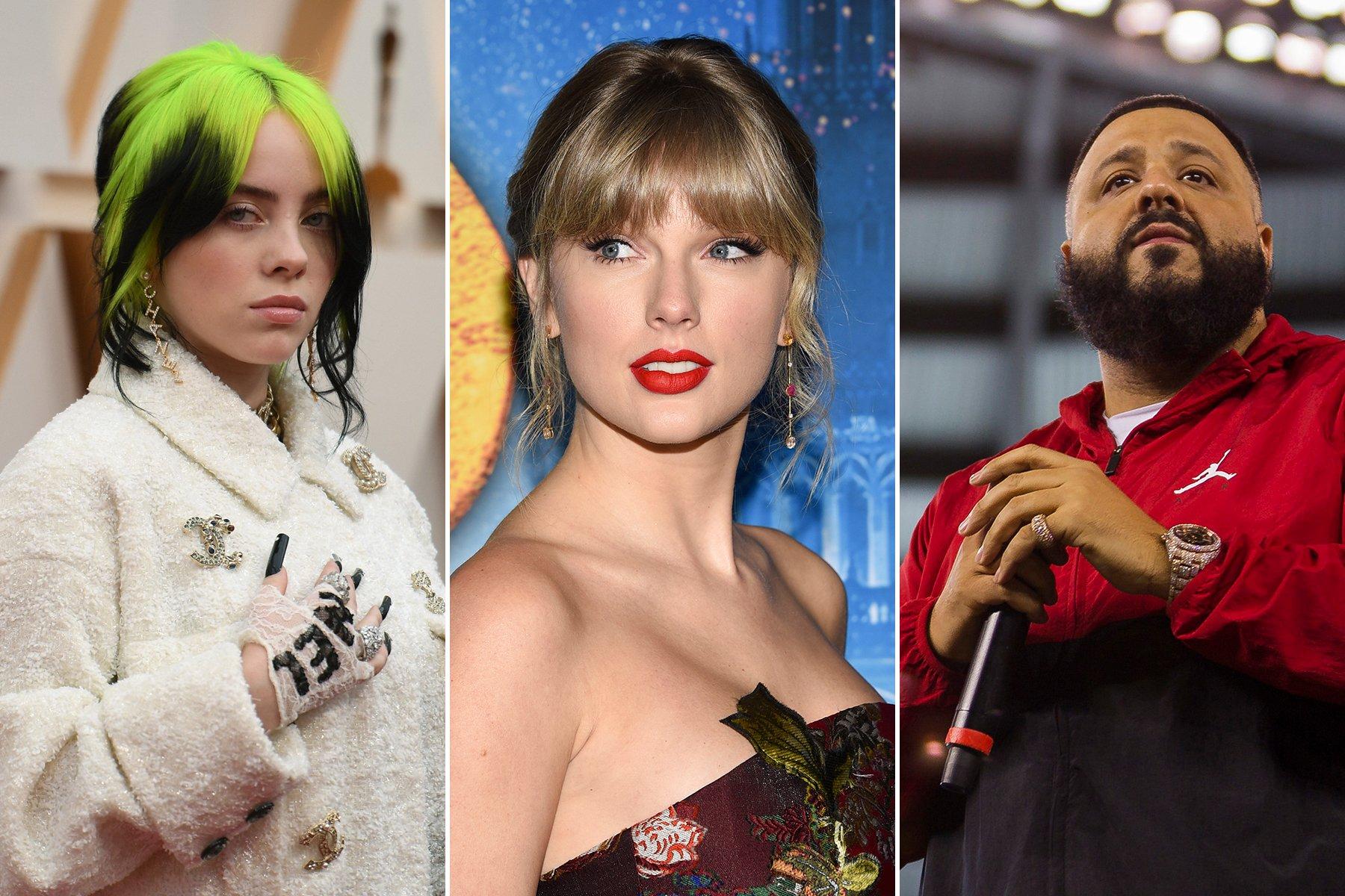 Taylor Swift, Billie Eilish, DJ Khaled Join 'Just Vote' Voter Registration Campaign