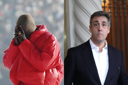 Kanye West Donned a Creepy White Mask to Have Coffee With Former Trump Fixer Michael Cohen