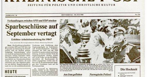 Historische Titelseiten: Vor 40 Jahren heirateten Charles und Diana