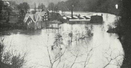 Hochwasser-Historie in Radevormwald: Die Wupper trat schon früher über die Ufer