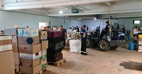 Von Weeze aus in die Überflutungsgebiete: Hilfsgüter werden im Naafi-Shop gesammelt