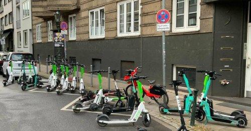Verkehr in Düsseldorf: E-Scooter verursachen wieder mal Ärger