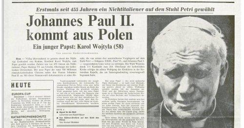 Historische Titelseiten: Joahnnes Paul II - Karol Wojtyla wird Papst