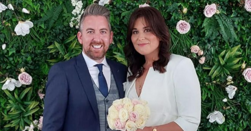 Stefanie Preissner shows off €45 wedding dress for the first time in new snaps