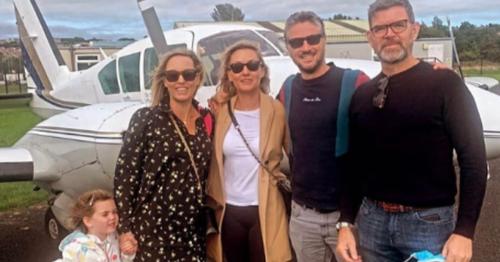 Kathryn Thomas jets off on mini plane as she enjoys family break to Isle of Man