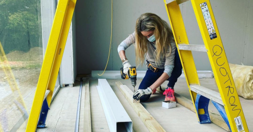 Storm Keating 'near tears' as she makes update about home building milestone