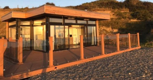 You can rent an incredible shipping container beach house in Louth this summer