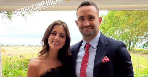 Leinster star Dave Kearney wows with stunning girlfriend Becca at wedding