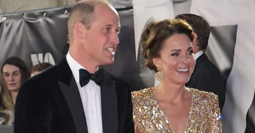 Kate Middleton looks a vision in show-stopping gold dress at James Bond premiere