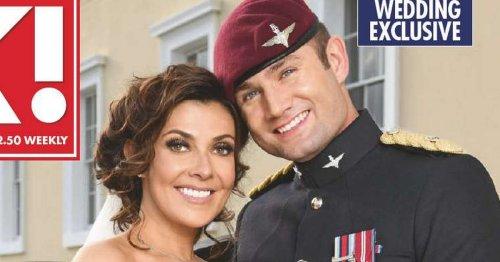 Corrie star Kym Marsh marries Scott Ratcliff in Sandhurst military wedding